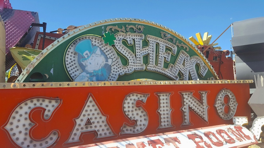 Photo of O'Sheas sign at The Neon Museum