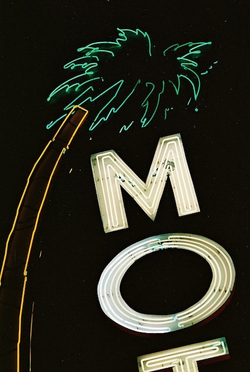 Lone Palm Motel sign c.1988, Neon Museum Anita Rosenberg Collection