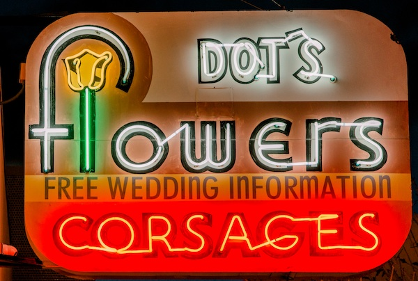 Dot's Flowers neon sign at The Neon Museum