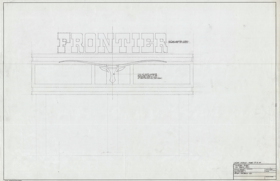 "Frontier Longhorn drawing by Brian ""Buzz"" Leming, Federal Heath Collection, 1982"