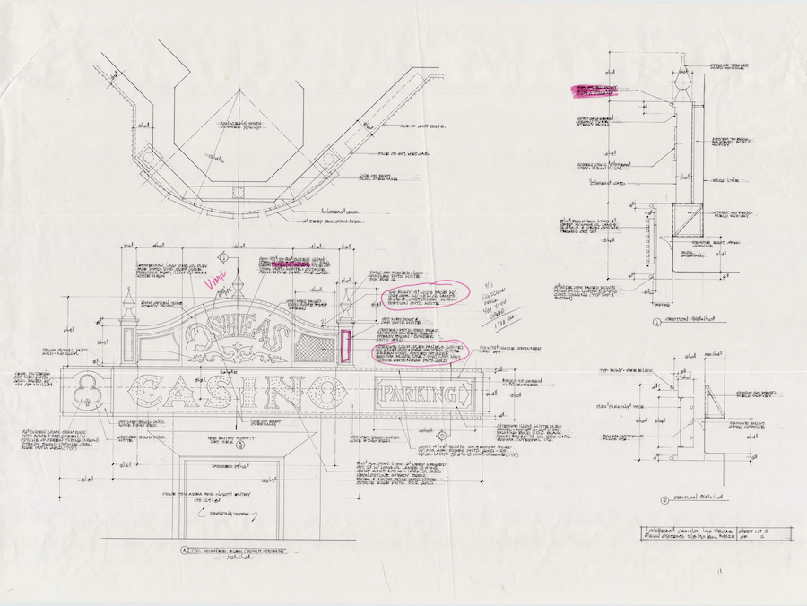 "Osheas techinical drawing by Brian ""Buzz"" Leming, Federal Heath Collection, 1990"