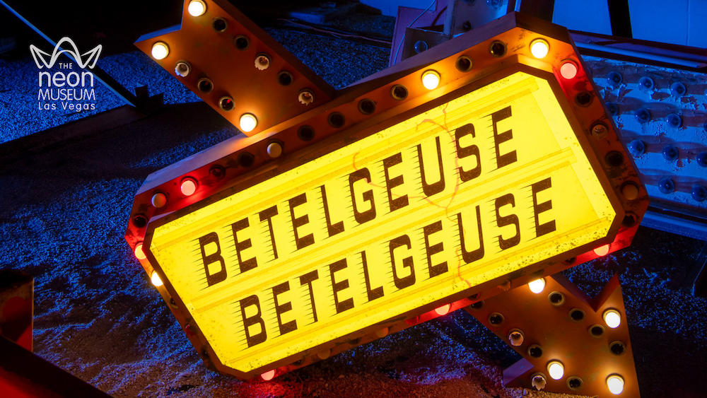 Betelgeuse sign at night
