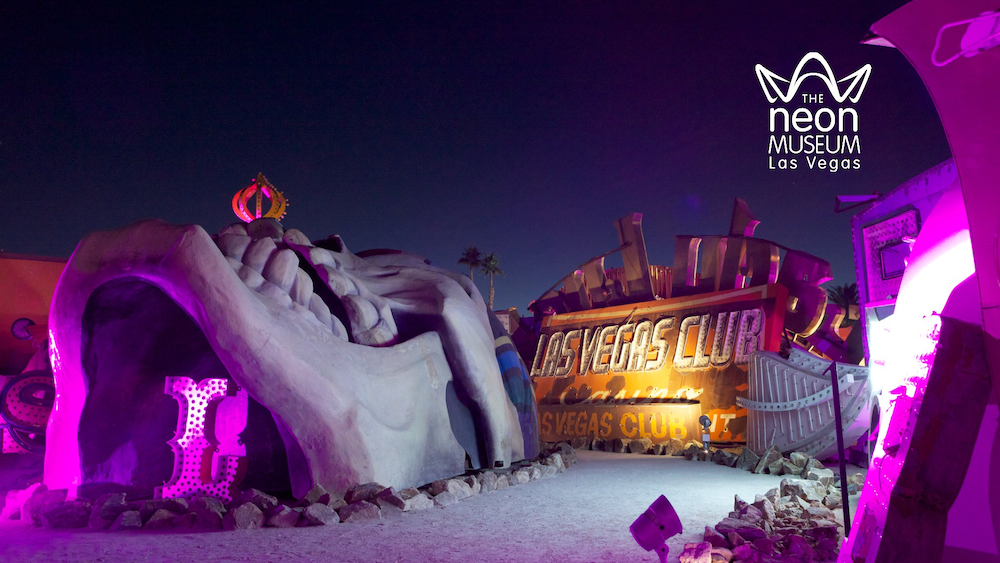 Treasure Island and Las Vegas Club in Boneyard at night