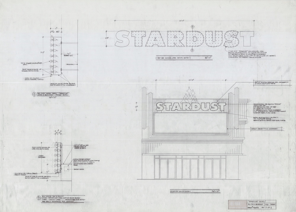 Rendering of Stardust sign, Melissa Metcalfe, Federal Heath Collection, 1990