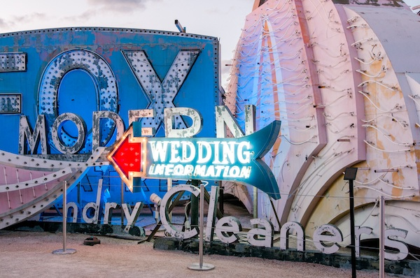 Wedding Information neon sign at The Neon Museum