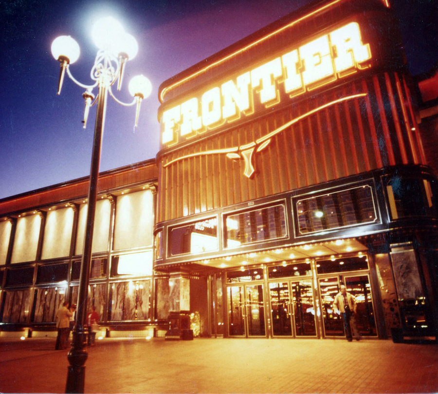 Frontier at night with lamp, Federal Heath Photograph Collection, c. 1990s