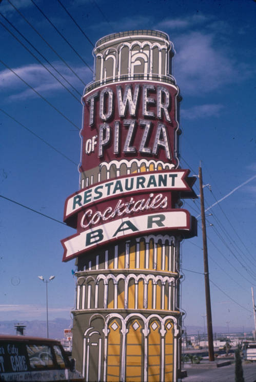 Slide of the Tower of Pizza, Nevada, 1986