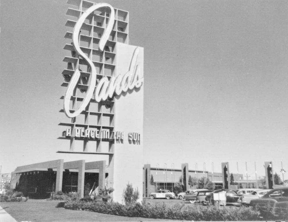 Film transparency of the Sands Hotel, Las Vegas, circa mid 1950s
